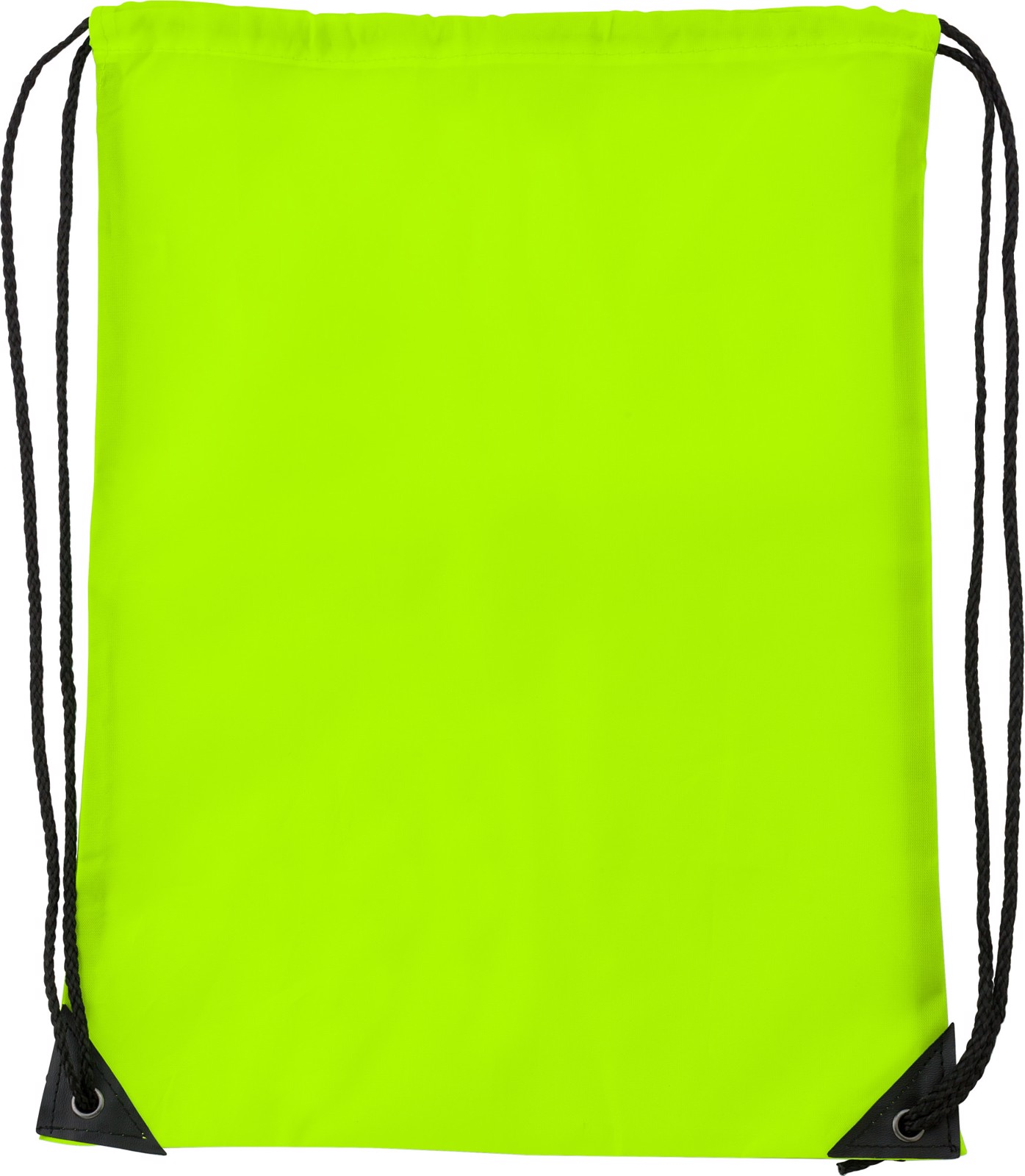 Polyester (210D) drawstring backpack - Fluor Yellow
