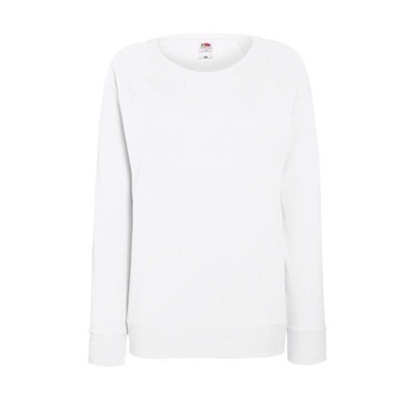 Ladies Sweatshirt 240 g/m2 Lady-Fit Light Raglan 62-146-0 - White / L