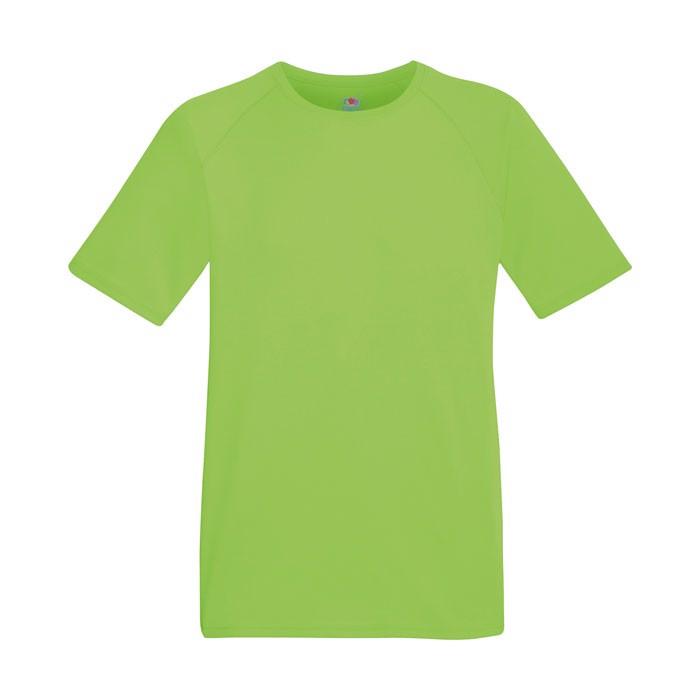 Men's T-Shirt Sports Performance T-Shirt 61-390-0 - Lime / XXL