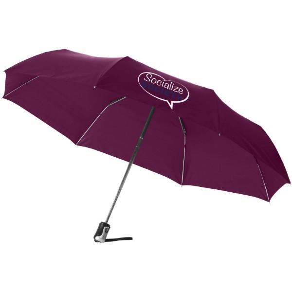"""21,5"""" deštník Alex s automatickým otvíráním/skládáním - Burgundská červená"""
