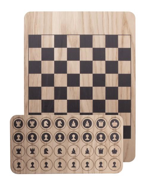 Komplet za šah Benko - Natural / Black