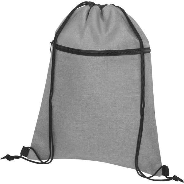 Hoss drawstring backpack - Heather medium grey
