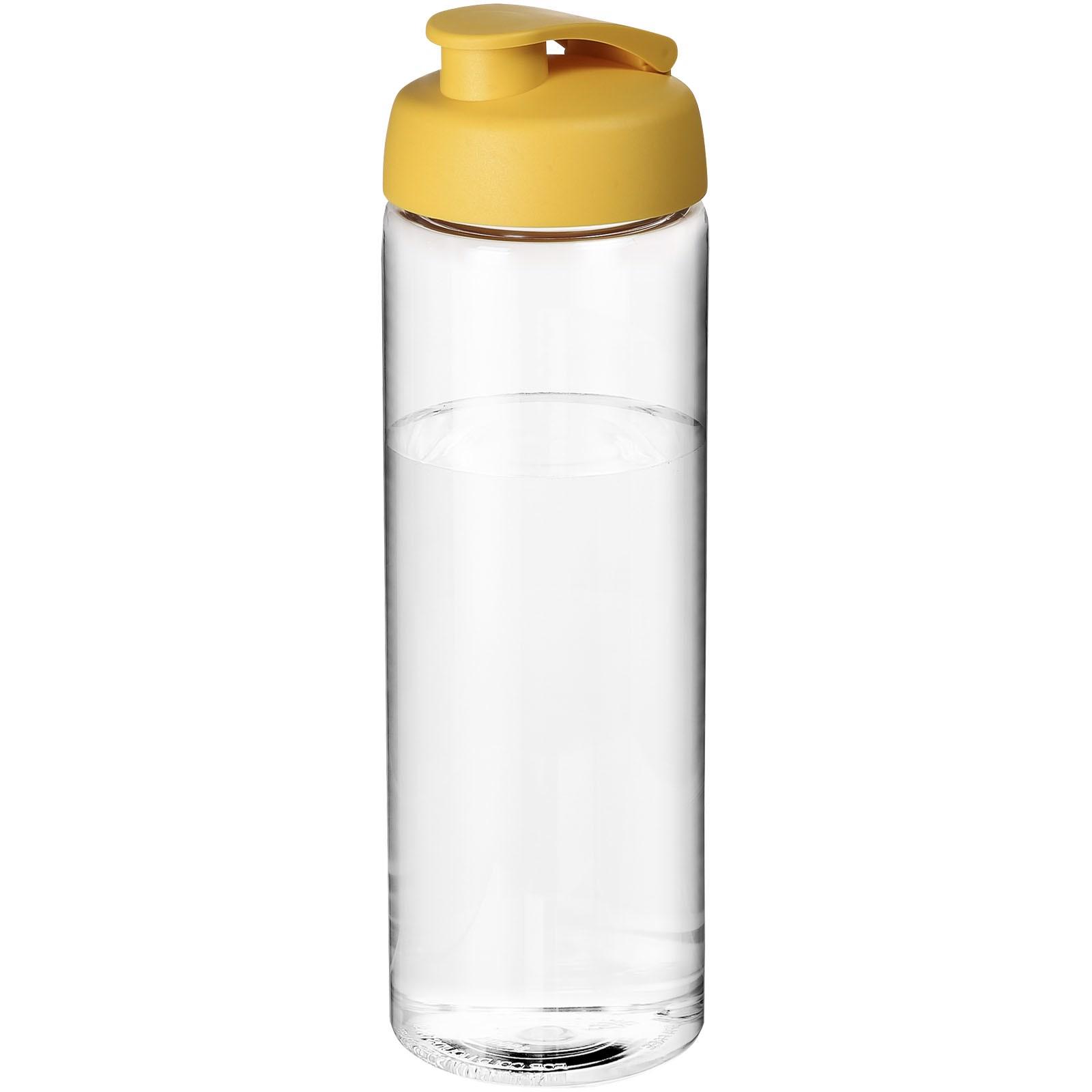 H2O Vibe 850 ml sportovní lahev s vyklápěcím víčkem - Průhledná / Žlutá