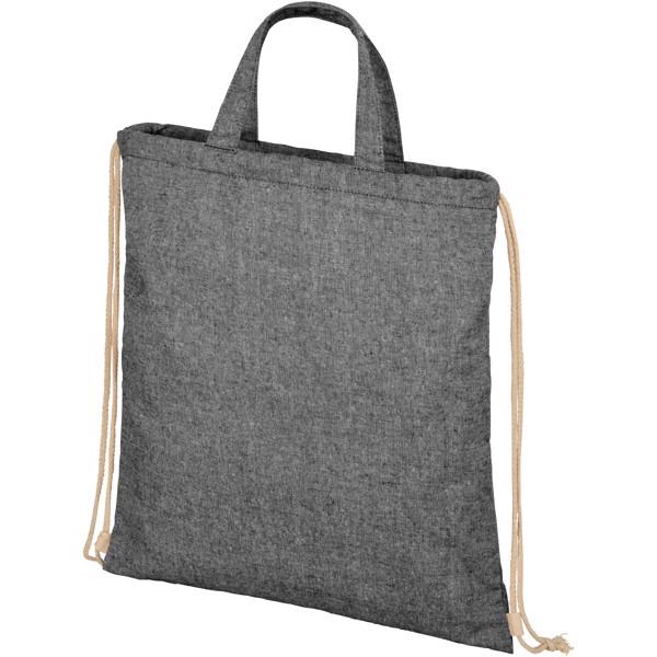 Pheebs šňůrkový batoh ze směsi recyklované bavlny a polyesteru 210 g/m²