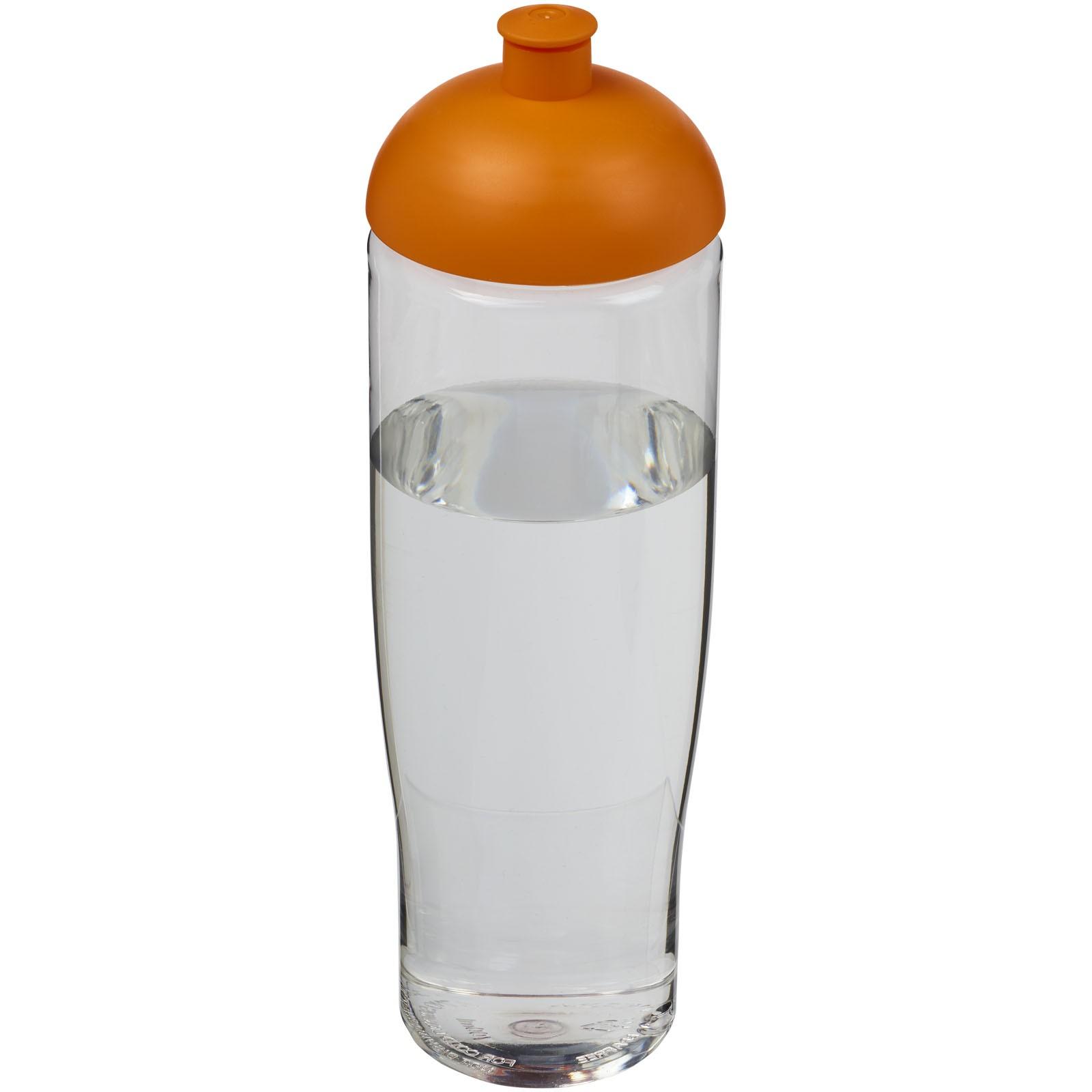 Sportovní láhev s kupolovitým víčkem H2O Tempo® 700 ml - Průhledná / 0ranžová