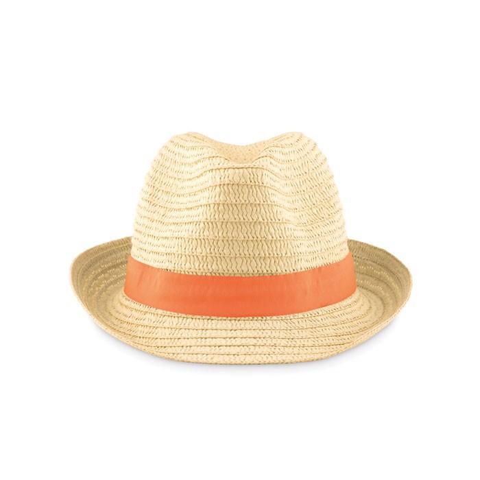 Paper straw hat Boogie - Orange