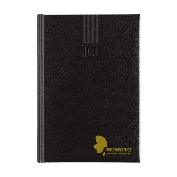 Euromax diary 4 languages A4 - Black