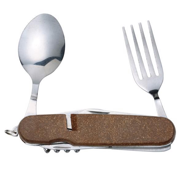 """Taschenmesser """"Dinner"""" - Silber/Braun"""