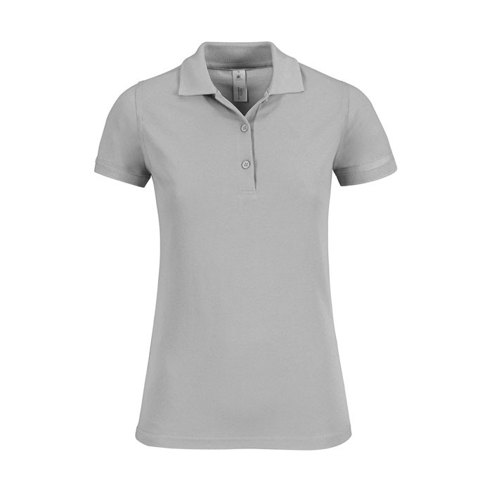Damen Polo Shirt 180 g/m2 Safran Timeless Women - Grau / XL