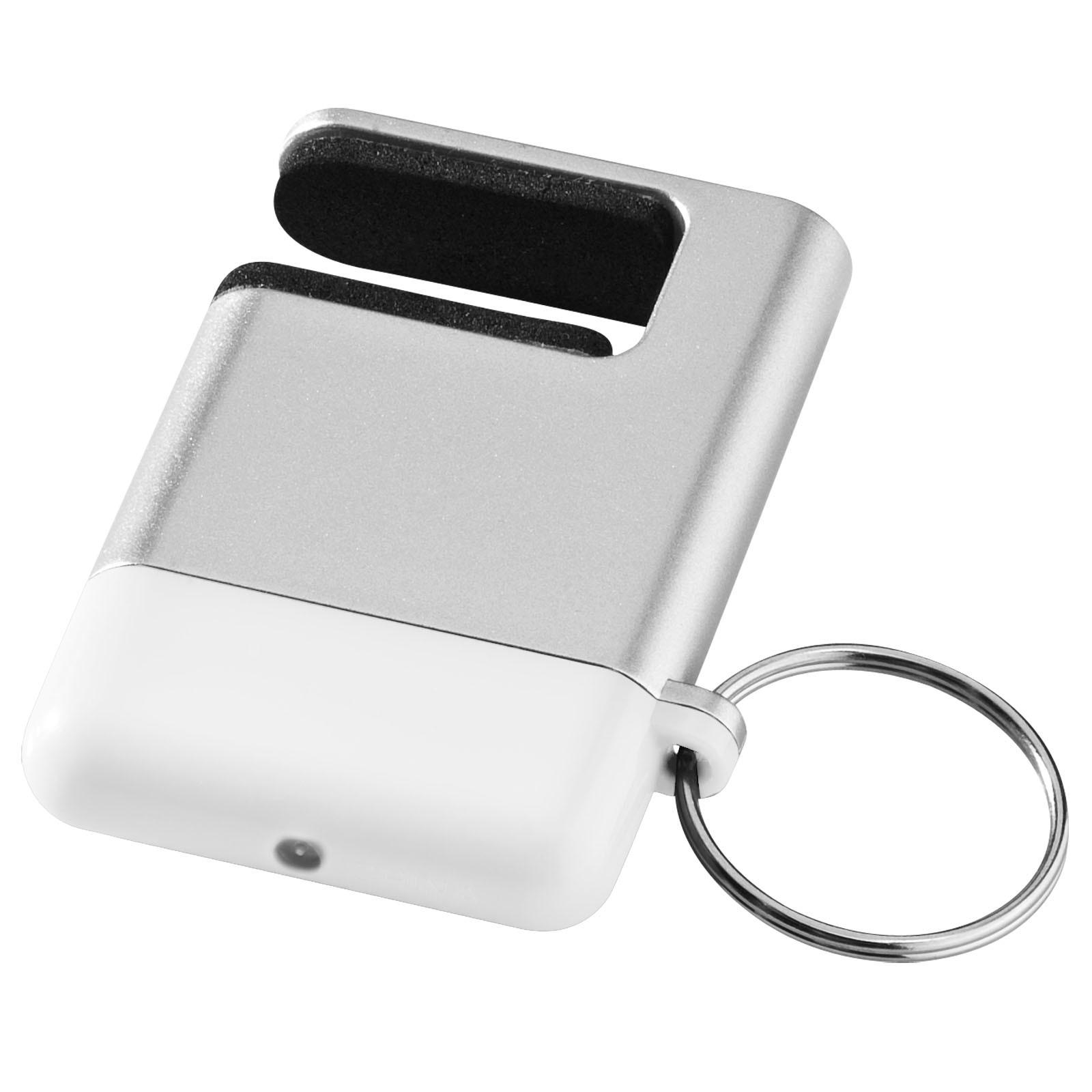 Čistítko displeje a držák telefonu Gogo - Stříbrný / Bílá