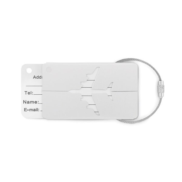 Aluminium luggage tag Fly Tag - Matt Silver