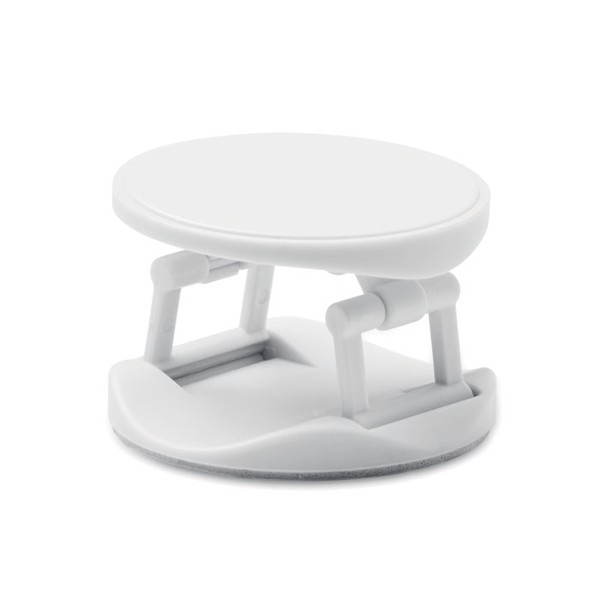 Round phone holder Dot - White