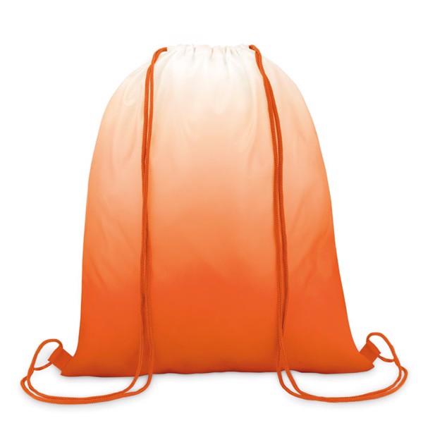210D polyester drawstring bag Fade Bag - Orange