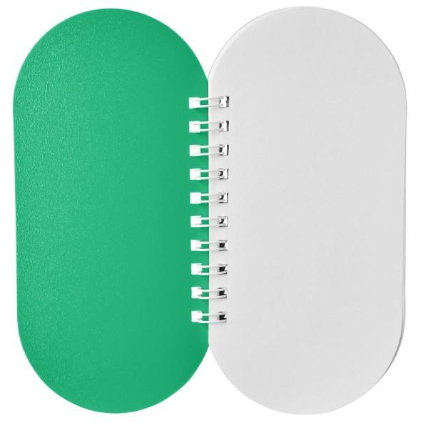 Poznámkový blok Capsule - Zelená / Bílá
