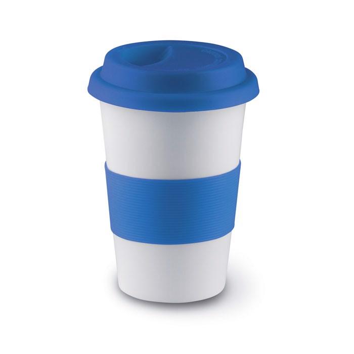 Ceramic mug w/ lid and sleeve Tribeca - Blue