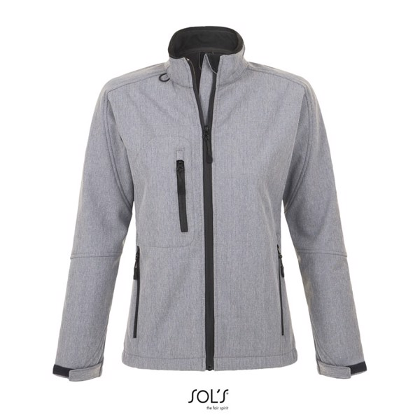 ROXY-női Softshell dzseki - szürke melange / XXL