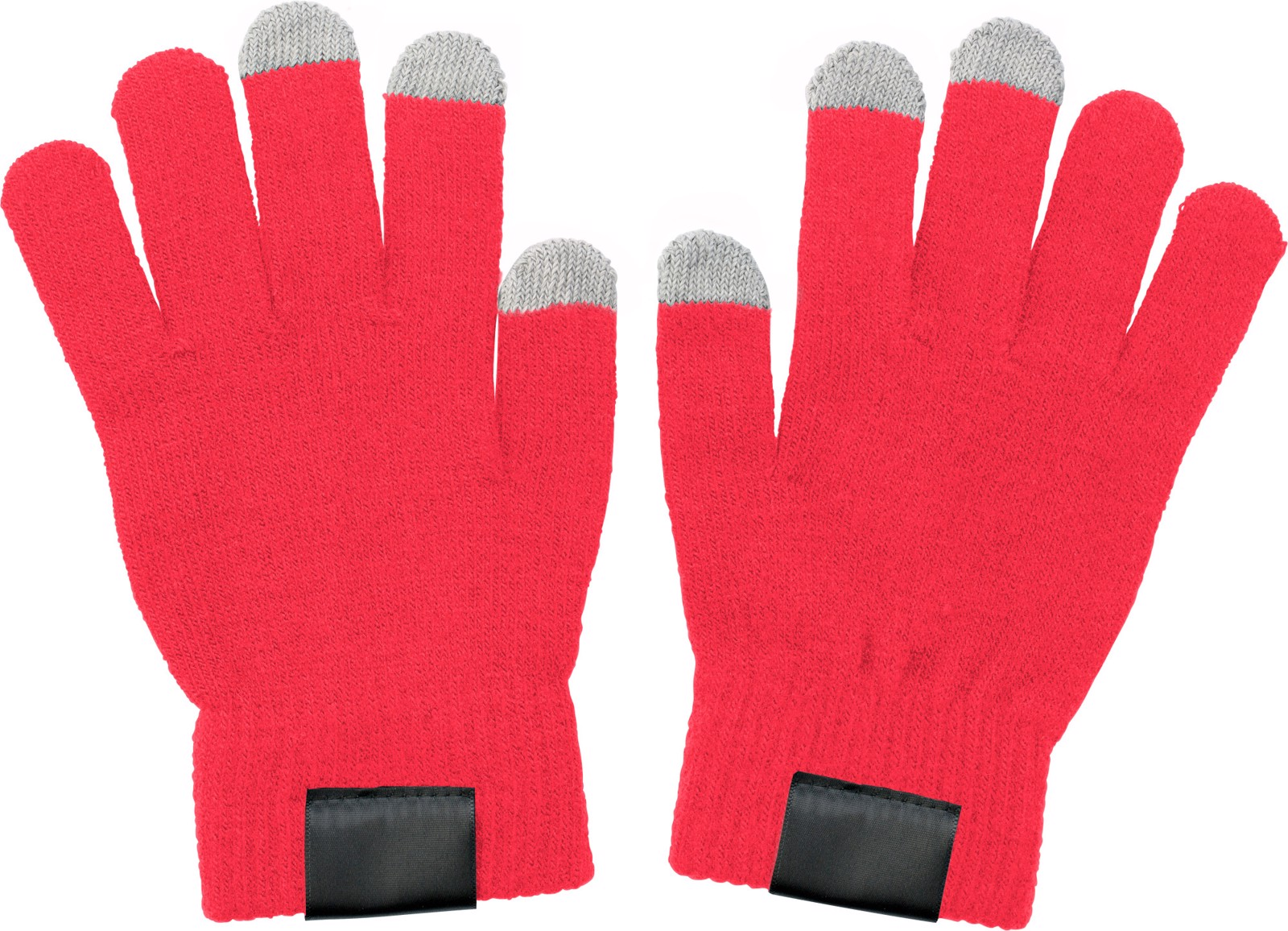 Polyester gloves - Red