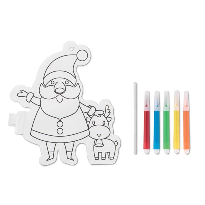 Balon z motivom božička za barvanje Santaball
