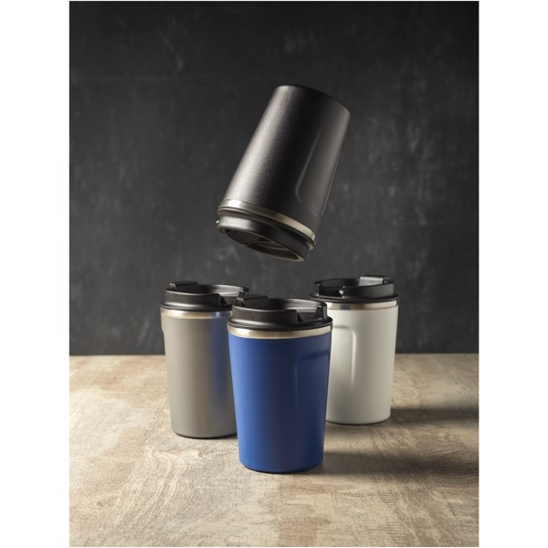 "Vaso de 360 ml con aislamiento de cobre al vacío ""Thor"" - Negro intenso"