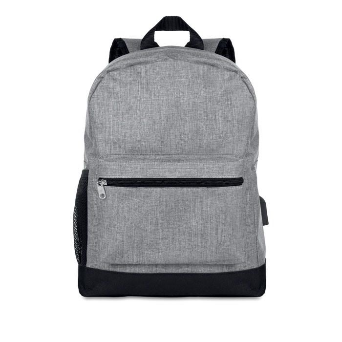 600D 2 tone polyester backpack Bapal Tone - Grey