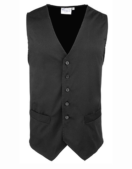 Men`S Hospitality Waistcoat - Black / XXL