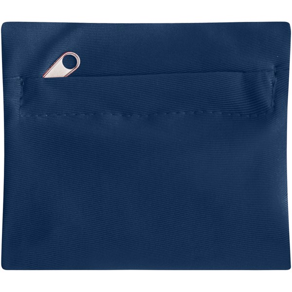 Squat wristband with zippered pocket - Navy