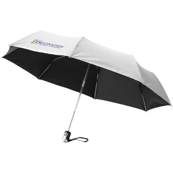 """21,5"""" deštník Alex s automatickým otvíráním/skládáním - Černá / Stříbrný"""