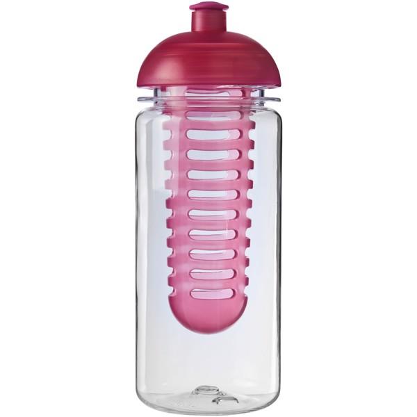 Láhev s infuzérem a kupolovitým víčkem Octave Tritan™ 600 ml - Průhledná / Růžová