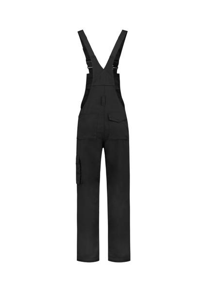 Pracovní kalhoty s laclem unisex Tricorp Dungaree Overall Industrial - Černá / L