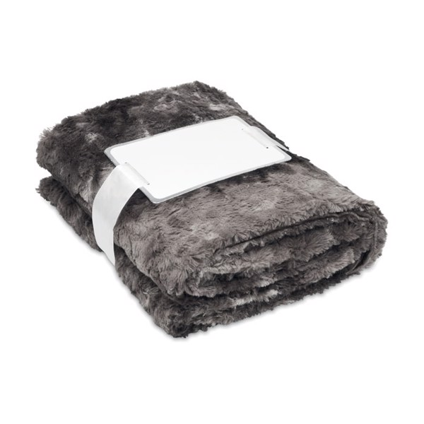 Fake fur blanket Andermatt - Grey