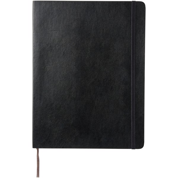 Classic XL soft cover notebook - squared - Solid black
