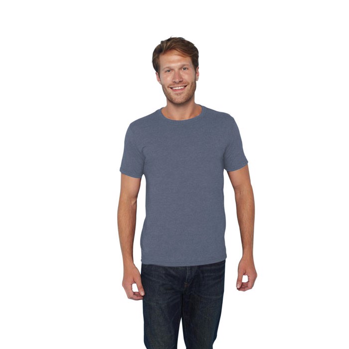 Ring Spun tričko 150 g/m² Ring Spun T-Shirt 64000 - Heather Navy / S
