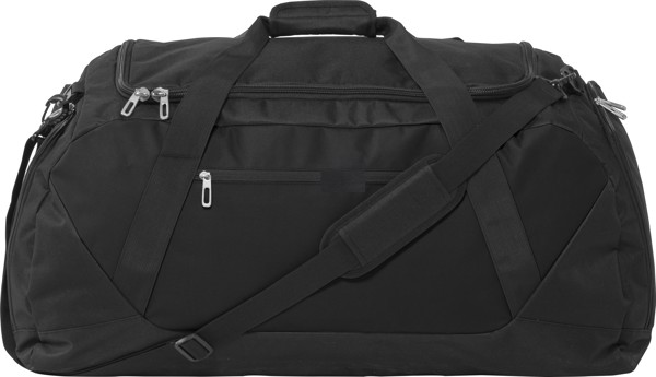 Polyester (600D) sports bag - Black / Black