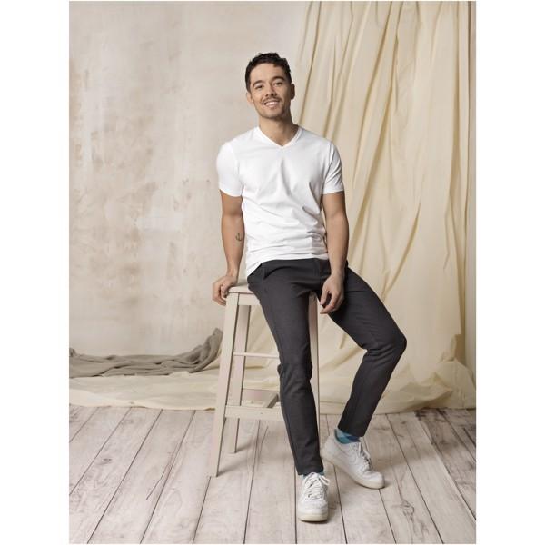Pánské triko Kawartha s krátkým rukávem, organická bavlna - Švestka / XS