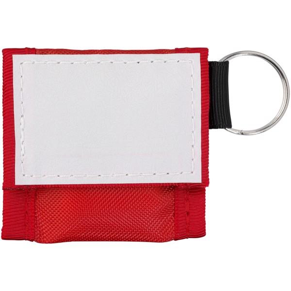 Henrik Mund-zu-Mund-Schutz im Polyesterbeutel - Rot