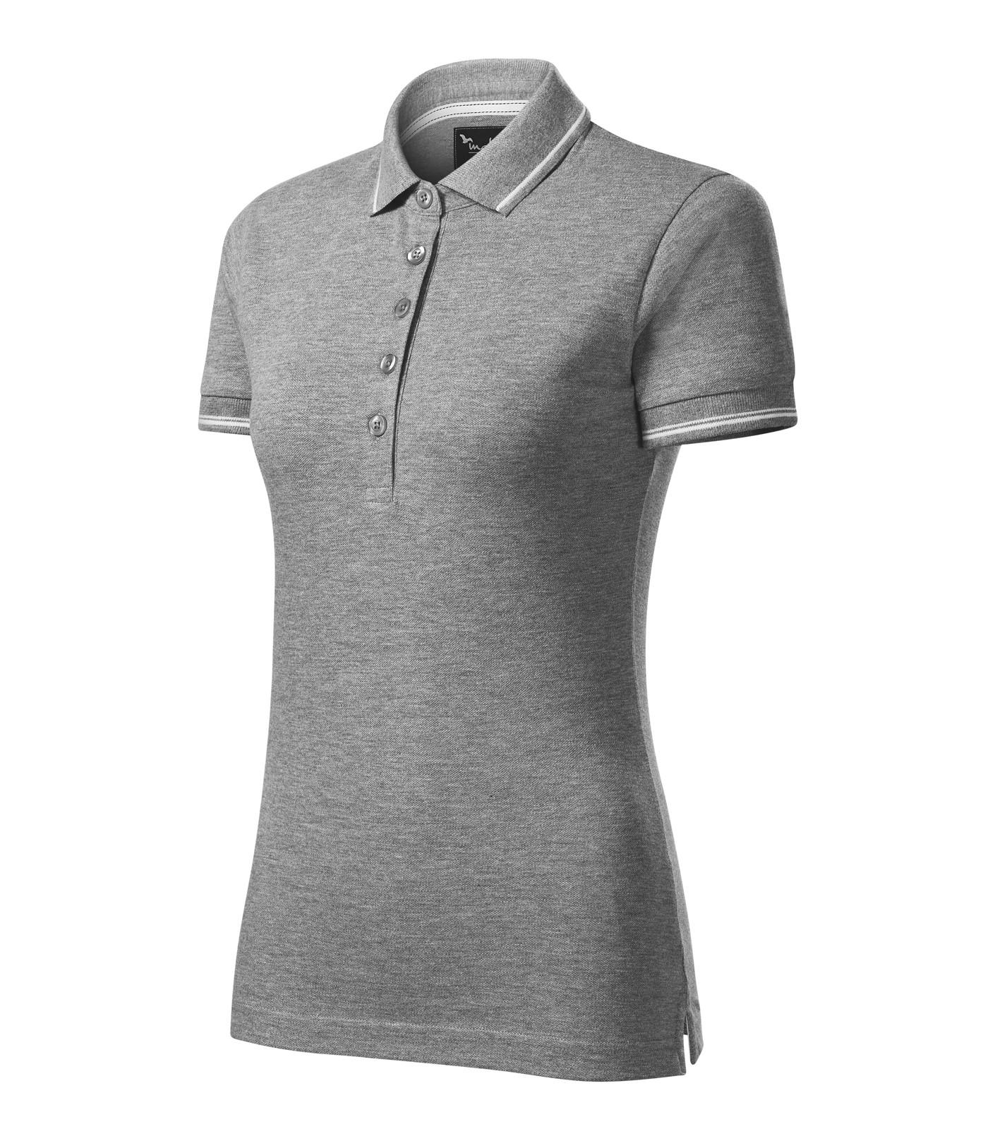 Polo Shirt women's Malfinipremium Perfection plain - Dark Gray Melange / 2XL