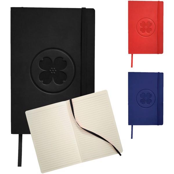 Zápisník Classic A5 v měkkých deskách - Červená s efektem námrazy