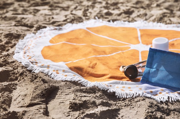 Microfiber (160 gr/m²) beach towel - Orange