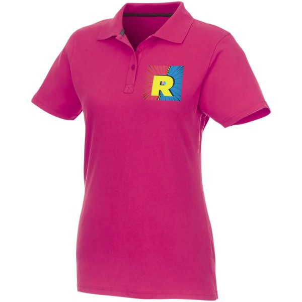 Helios short sleeve women's polo - Magenta / XS