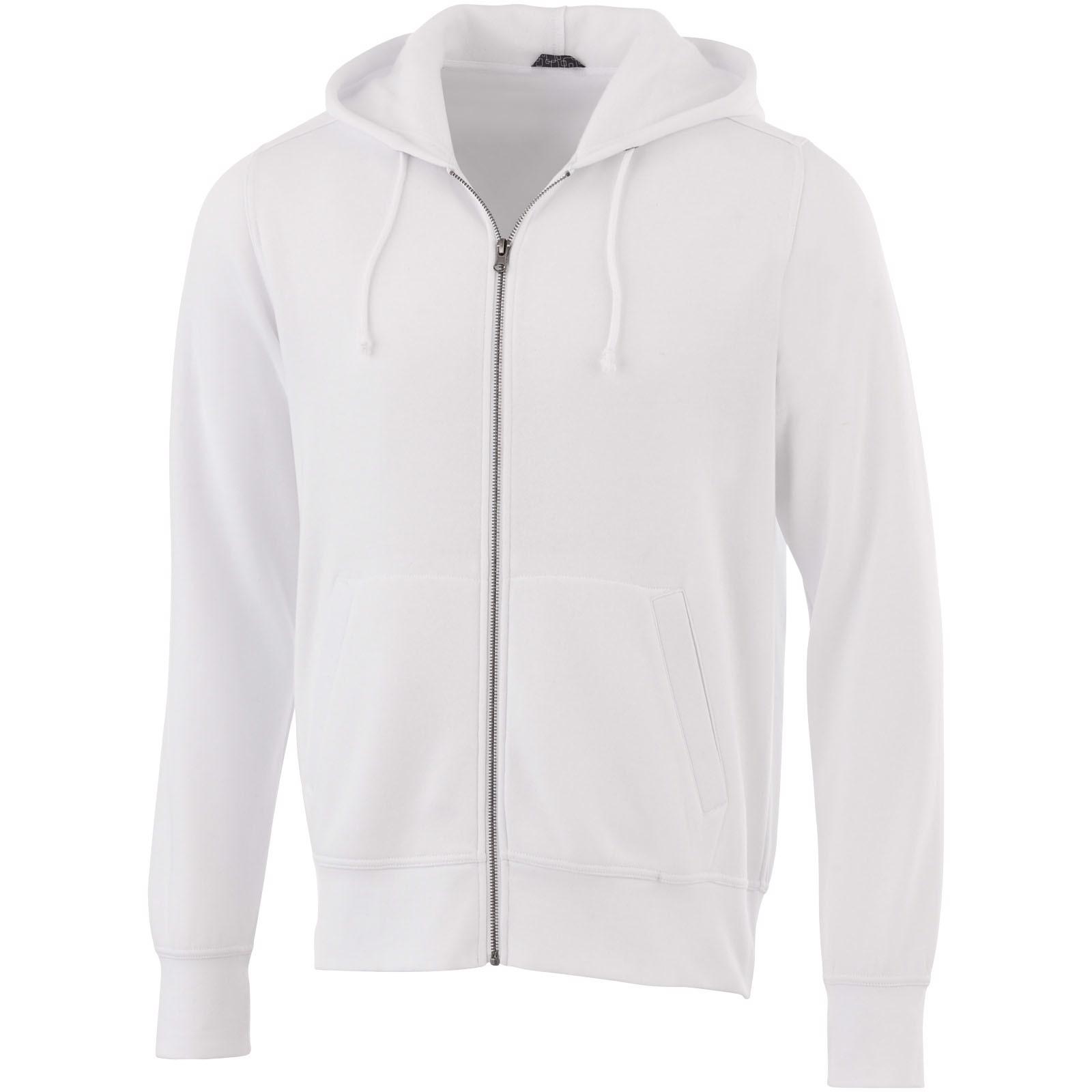 Cypress unisex full zip hoodie - White / M