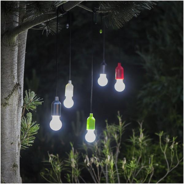 Helper LED-Lampe mit Schnur - royalblau / weiss