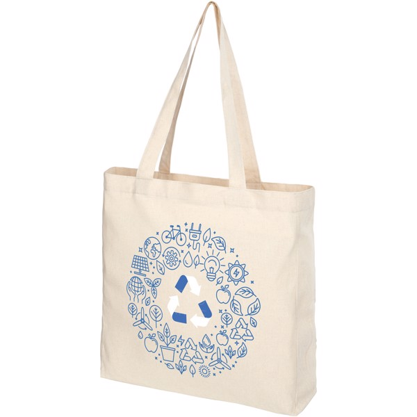 Pheebs 210 g/m² recycled gusset tote bag - Natural