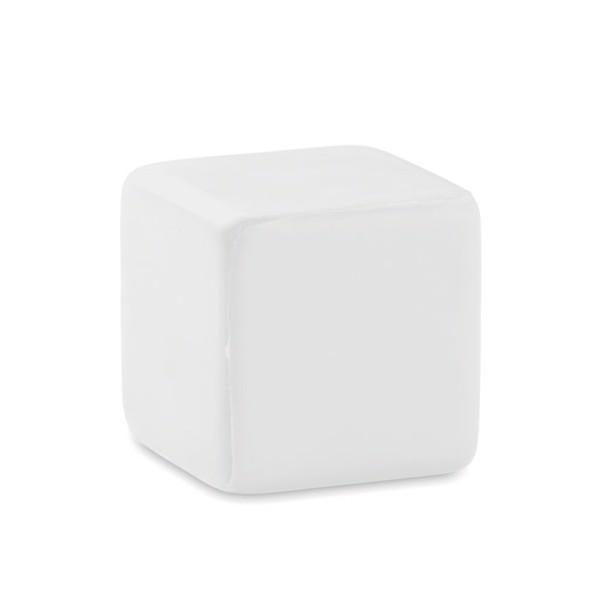 Kocka alakú stresszlabda Squarax - fehér-TESZT