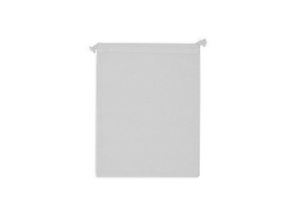 Bolsa de comida reutilizable de algodón OEKO-TEX® 25x30cm - Blanco