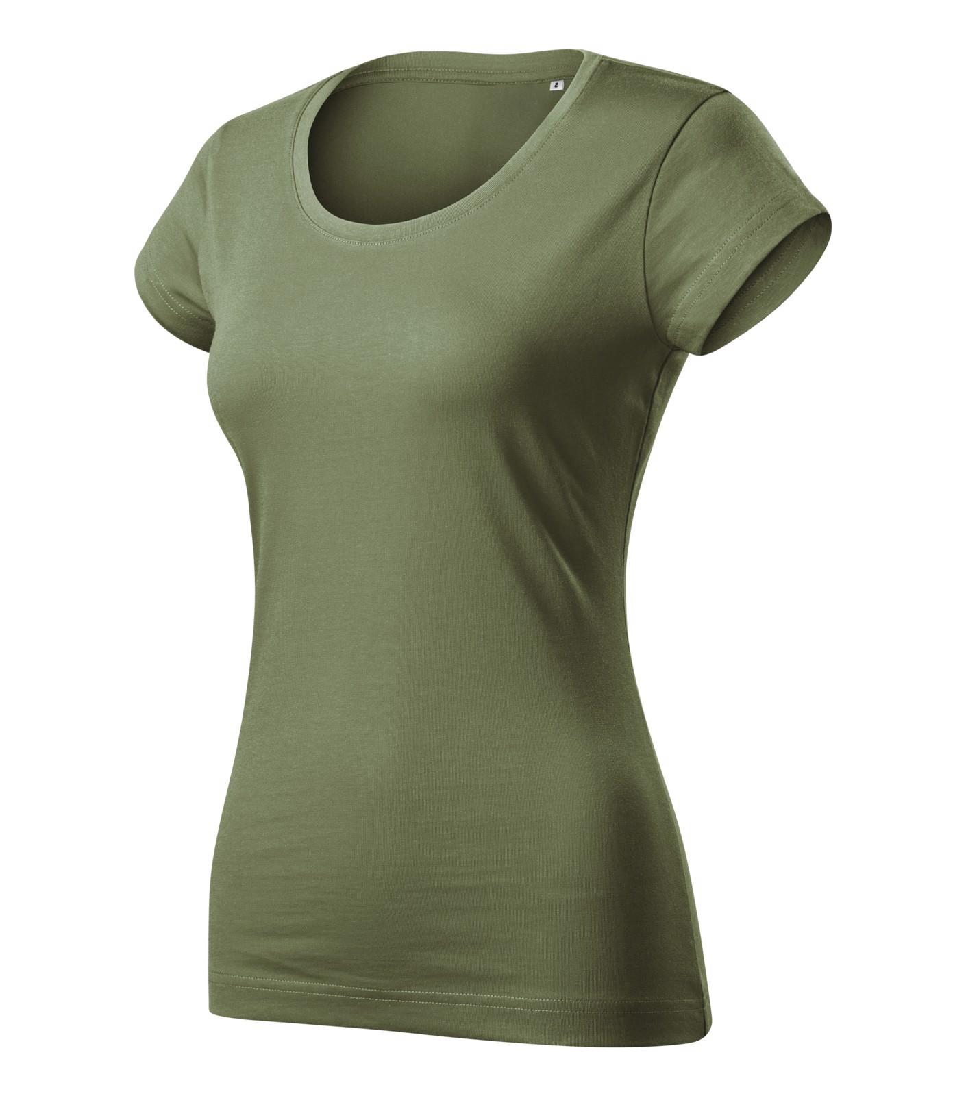 Tričko dámské Malfini Viper Free - Khaki / XL