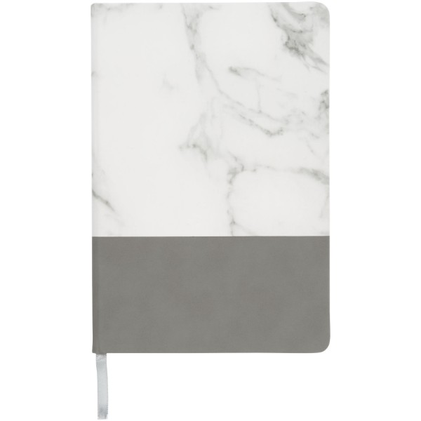Two-tone A5 marble look notebook - Grey