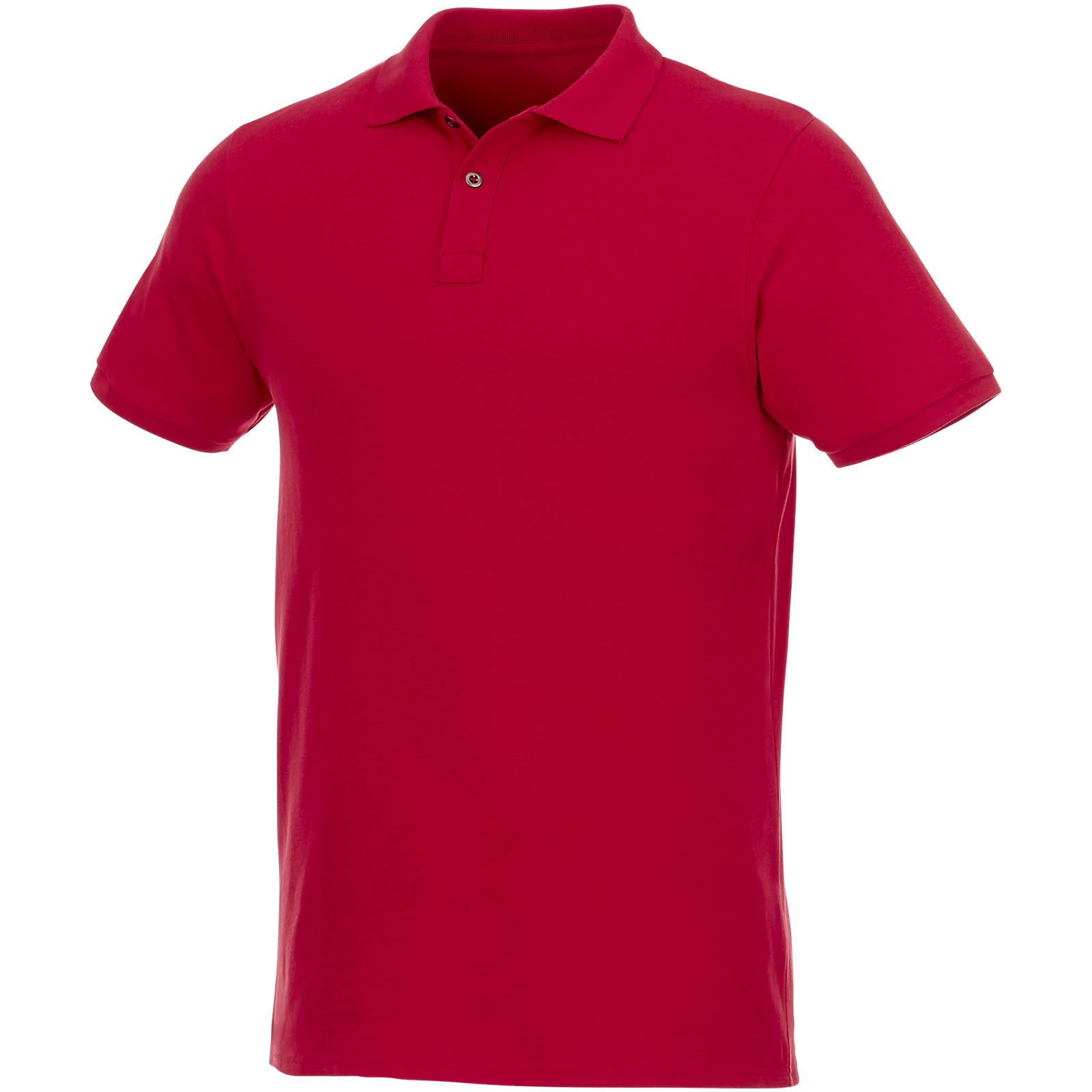 Beryl short sleeve men's GOTS organic GRS recycled polo - Red / S
