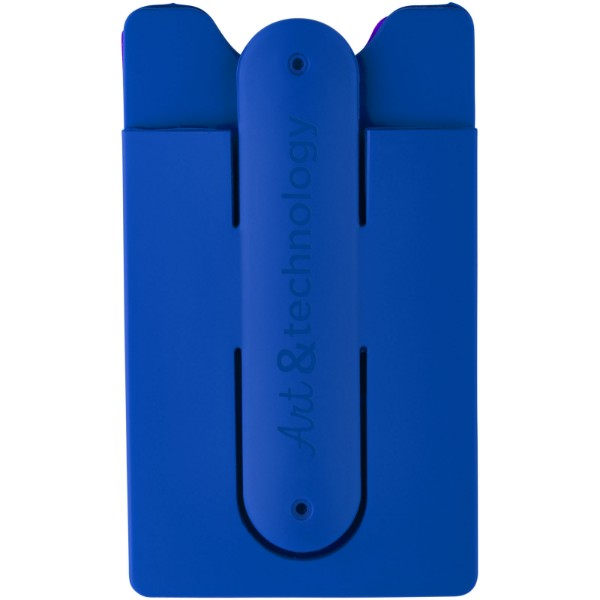 Stue silicone smartphone stand and wallet - Royal blue