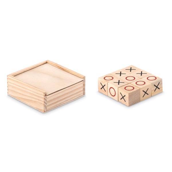 Wooden tic tac toe