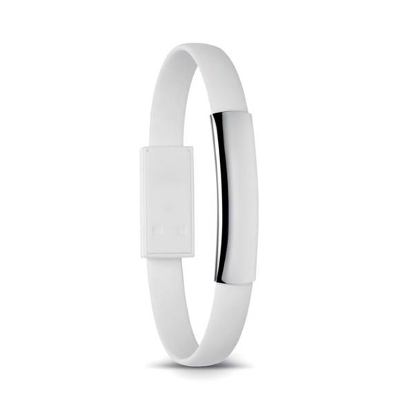 Bransoleta z mikro USB Cablet - biały